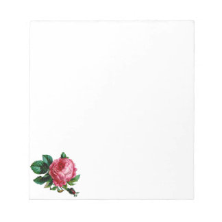 Cabbage Rose Notepad