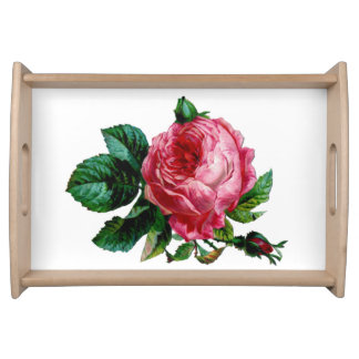 Cabbage Rose Serving Tray