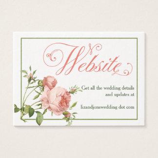 Cabbage Rose Wedding Website Information Card