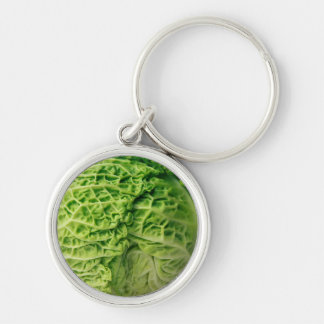 "Cabbage Small (1.44"") Premium Round Keychain"