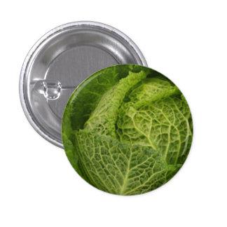 Cabbage Small, 1¼ Inch Round Button