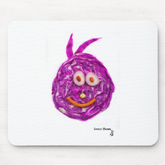 Cabbage Smiley Face Mousepad