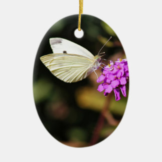 Cabbage White Butterfly Christmas Ornament