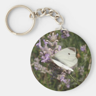 Cabbage White Butterfly Key Chains