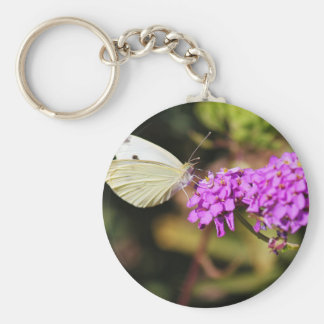 Cabbage White Butterfly Keychain