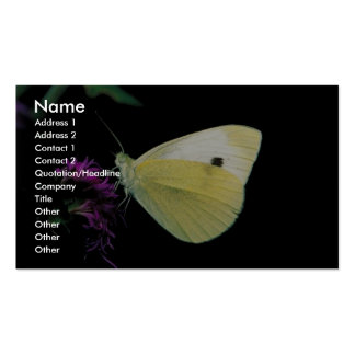 Cabbage White butterfly on Rough blazingstar Pack Of Standard Business Cards