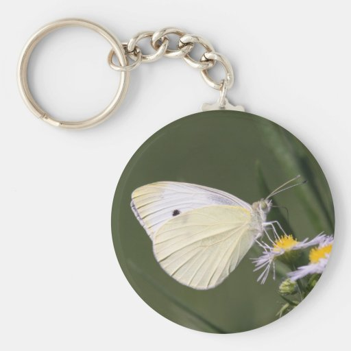 Cabbage White Key Chains