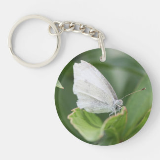 Cabbage White Acrylic Key Chain