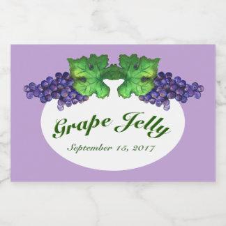 Cabernet Grape Jelly and Jam Label Light Purple