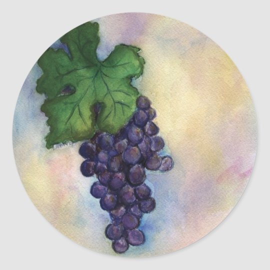 Cabernet Sauvignon Red Wine Grapes Stickers