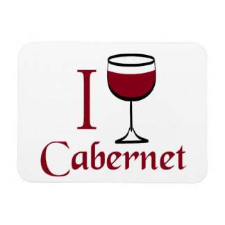 Cabernet Wine Drinker Rectangular Photo Magnet