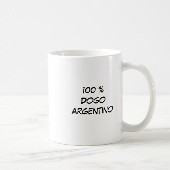Cabeza, 100 %DogoArgentino Coffee Mug