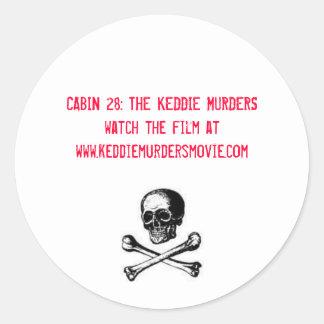 Cabin 28 The Keddie Murders in red Round Sticker