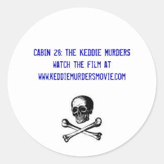 CABIN 28: THE KEDDIE MURDERS skull sticker
