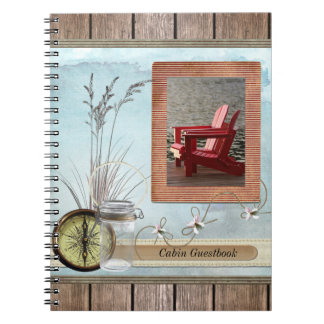 Cabin, cottage or Boat guestbook Spiral Notebook