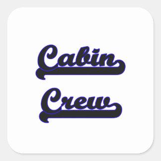 Cabin Crew Classic Job Design Square Sticker