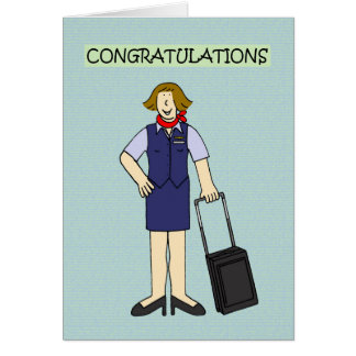 Cabin crew congratulations. card