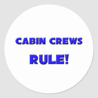 Cabin Crews Rule! Round Stickers