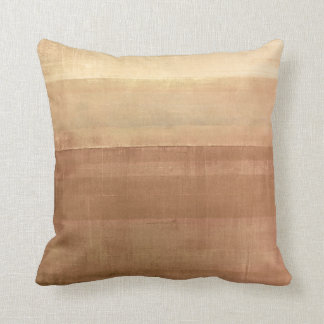 'Cabin Fever' Brown Abstract Art Cushion