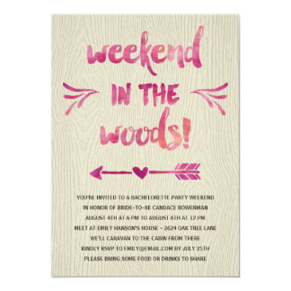 Cabin Fever | Rustic Bachelorette Party 13 Cm X 18 Cm Invitation Card