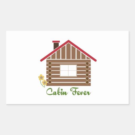 Cabin Fever Rectangular Sticker