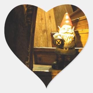 Cabin Gnome Heart Sticker