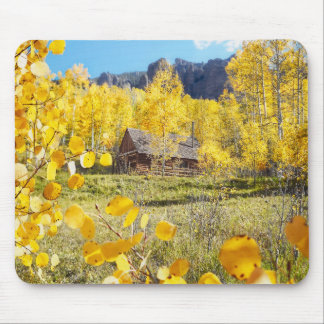 Cabin in Aspens Mouse Mat