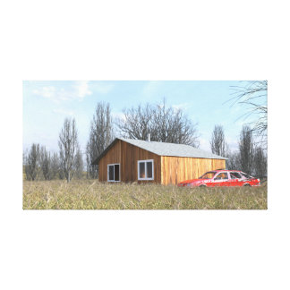 Cabin in the Field Canvas Print