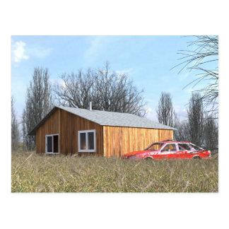 Cabin in the Field Postcard