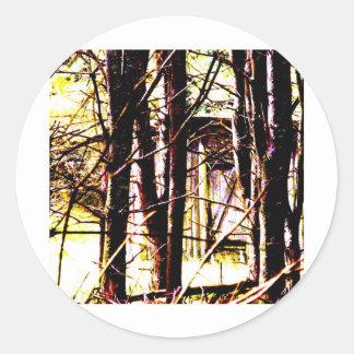 Cabin in the Woods Round Sticker