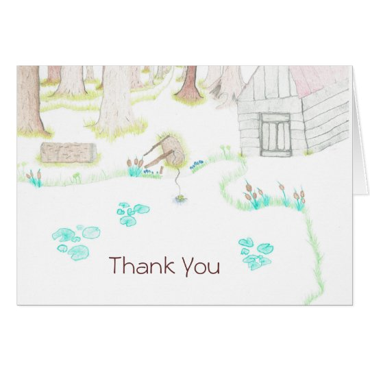 Cabin in the Woods - Thank You Card