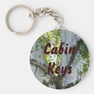 Cabin Keys Trees Keychain