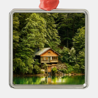 Cabin Lake House Christmas Ornament