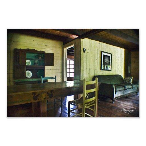 Cabin Living Room in Heaven Photo