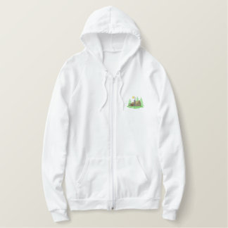 Cabin Scene Embroidered Hoodie
