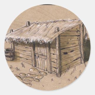 Cabin sticker hand drawn!