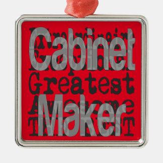 Cabinet Maker Extraordinaire Silver-Colored Square Decoration