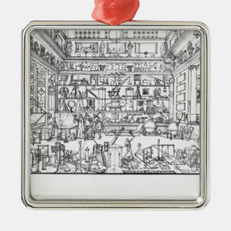 Cabinet of physics, 1687 Silver-Colored square decoration