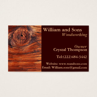 Cabinet Woodworking Carpentry Business Cards