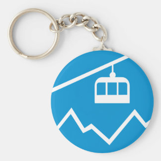 Cable car basic round button key ring