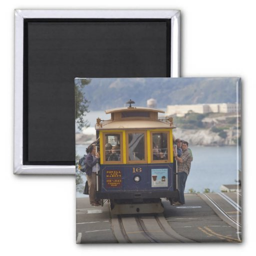 Cable car chugs up Hyde Street in San Fridge Magnet