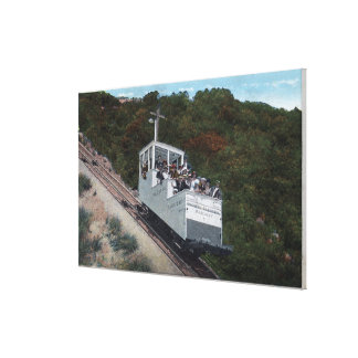 Cable Car on Incline View Canvas Print