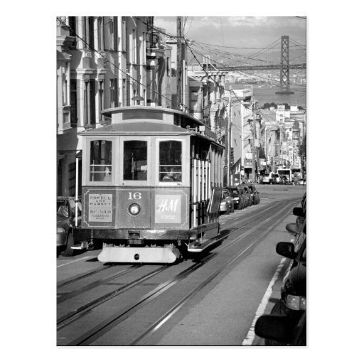 Cable Car Postcard Postcard