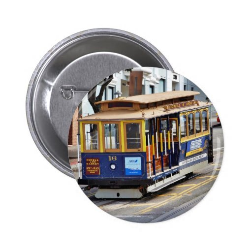 Cable Cars In San Francisco 6 Cm Round Badge