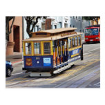 Cable Cars In San Francisco Post Card
