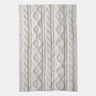 Cable knit fabric background tea towel