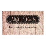 Cable knit pink yarn sweater knitting biz card business card templates