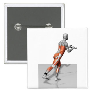 Cable Skater Exercise 15 Cm Square Badge