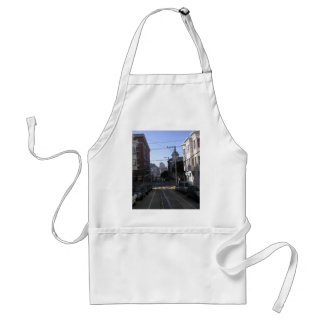 Cable tracks in the middle of road - San Francisco Adult Apron