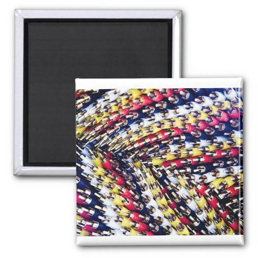 Cables and wires refrigerator magnet